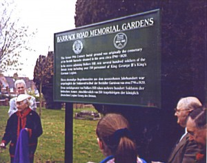 unveiling of plaque memorial gardens
